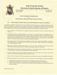 Eparchy of Phoenix Statement 18 MARCH 2020 - Directives relevant to Coronavirus Pandemic Page 1